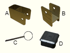Square 1 ¼ bracket